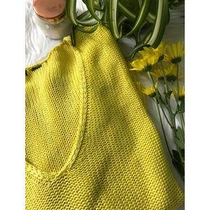 [H&M] Yellow V Neck Sweater